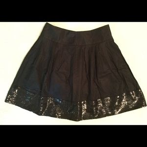 Dresses & Skirts - Black Mini Short Flare Sequined Flared M Skirt